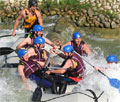 Whitewater rafting in Cunovo