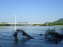 The Bridge over the Danube River near Hainburg