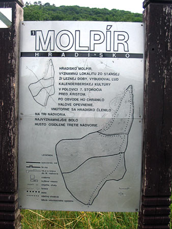 The Instructive Desk with the Information about the Archeological Site Molpir