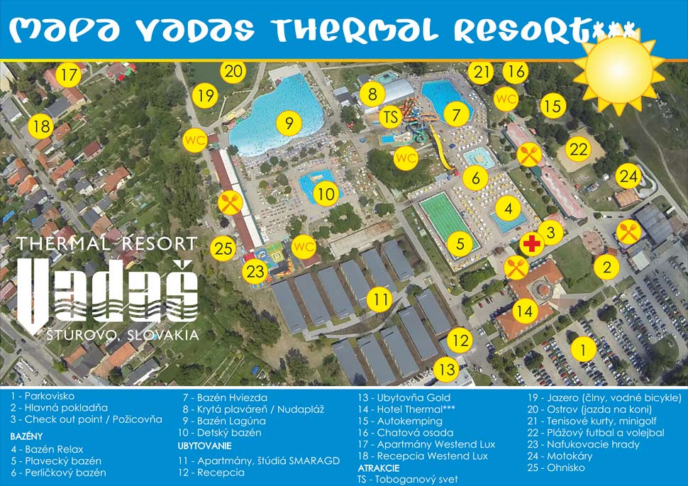 Mapa Thermal Resort Vadaš - Štúrovo