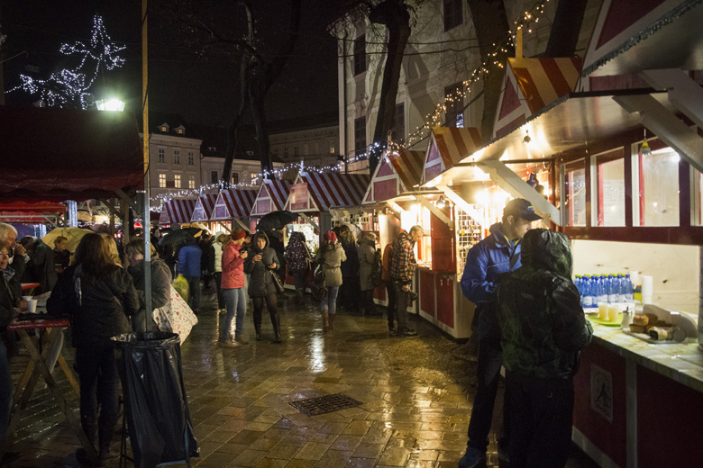 The first Day of Christmas Markets 2015 in Bratislava Old Town