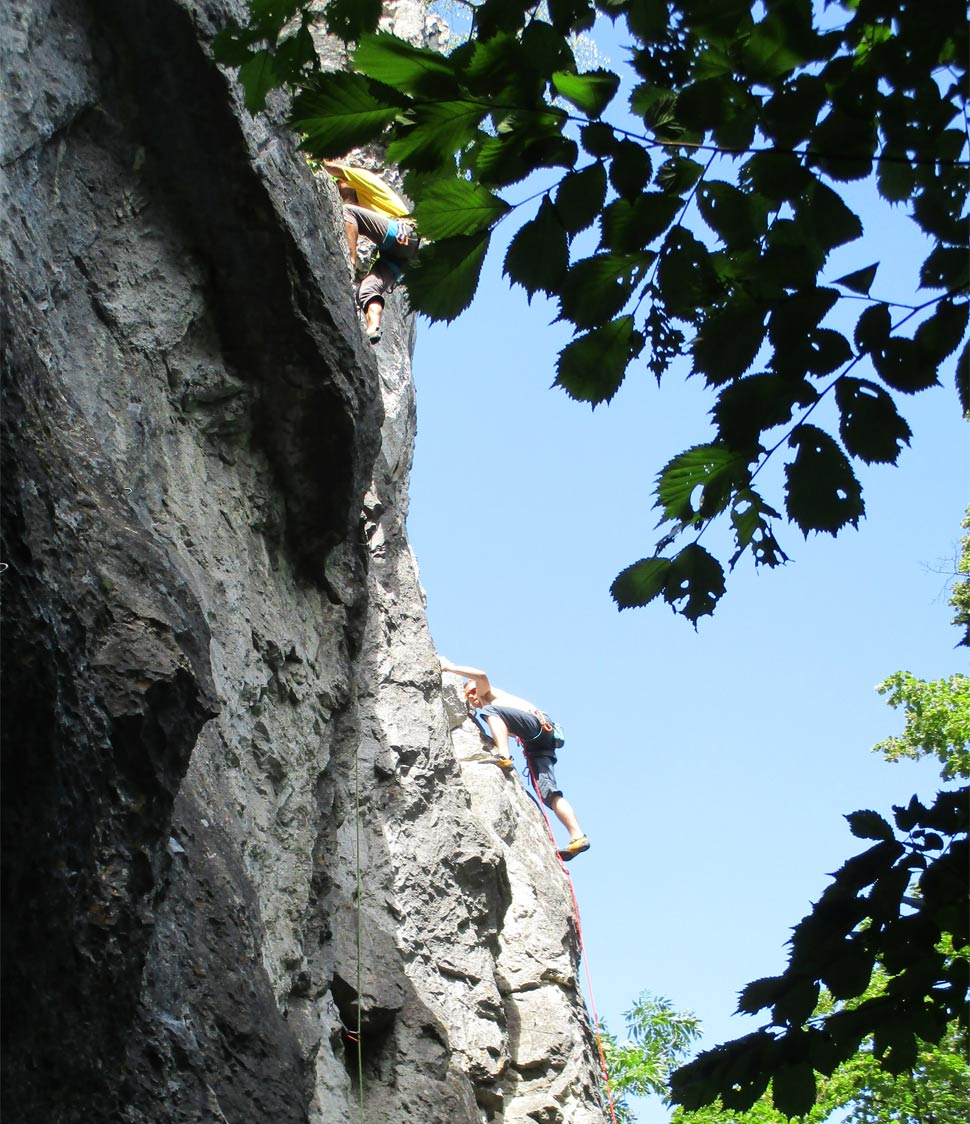 Climbing on Blazon Rocks - July 30, 2017