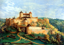 Dobra Voda Castle -  Oil painting from the 18th century - Illustration from the book Castles - Most Beautiful Ruins