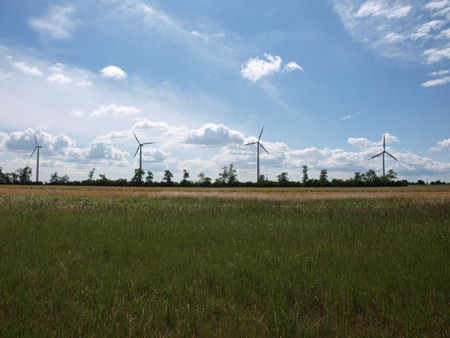 The wind farm Prellenkirchen