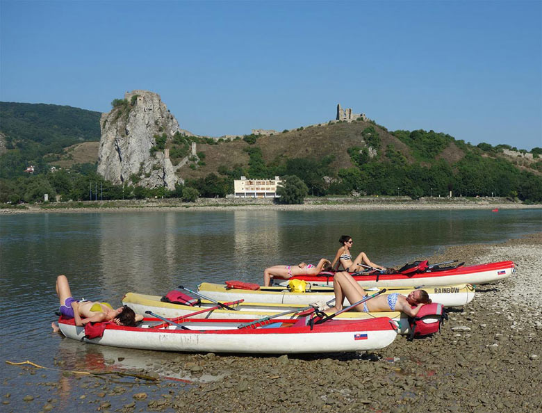 The Danube River and the Devin Castle