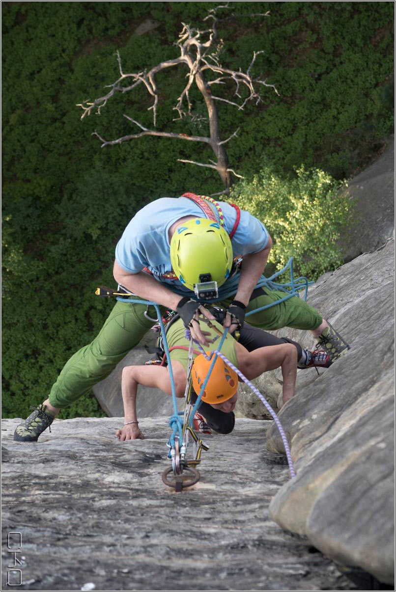 Passionate climbing - double spreading