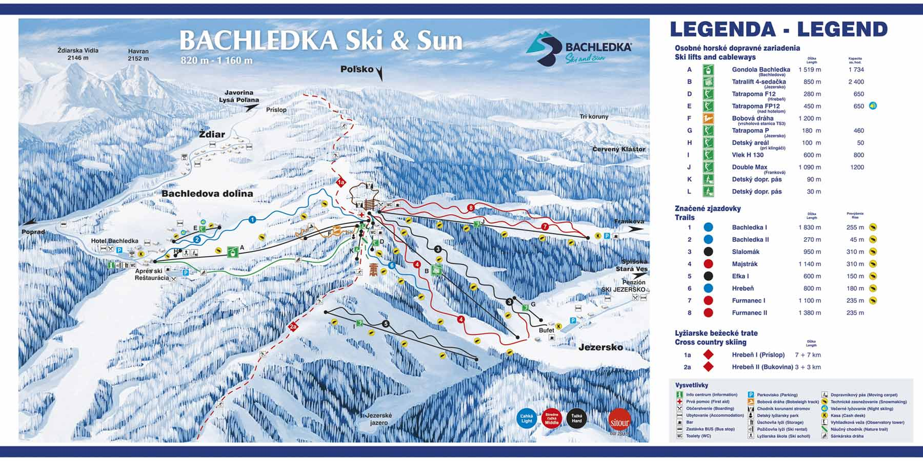 Bachledka Ski and Sun - ski map